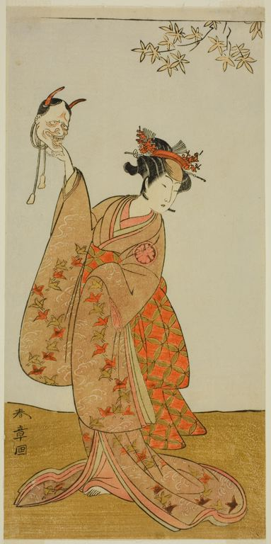The Actor Segawa Yujiro I as Matsukaze, Sister of Togashi no Saemon by Shunsho