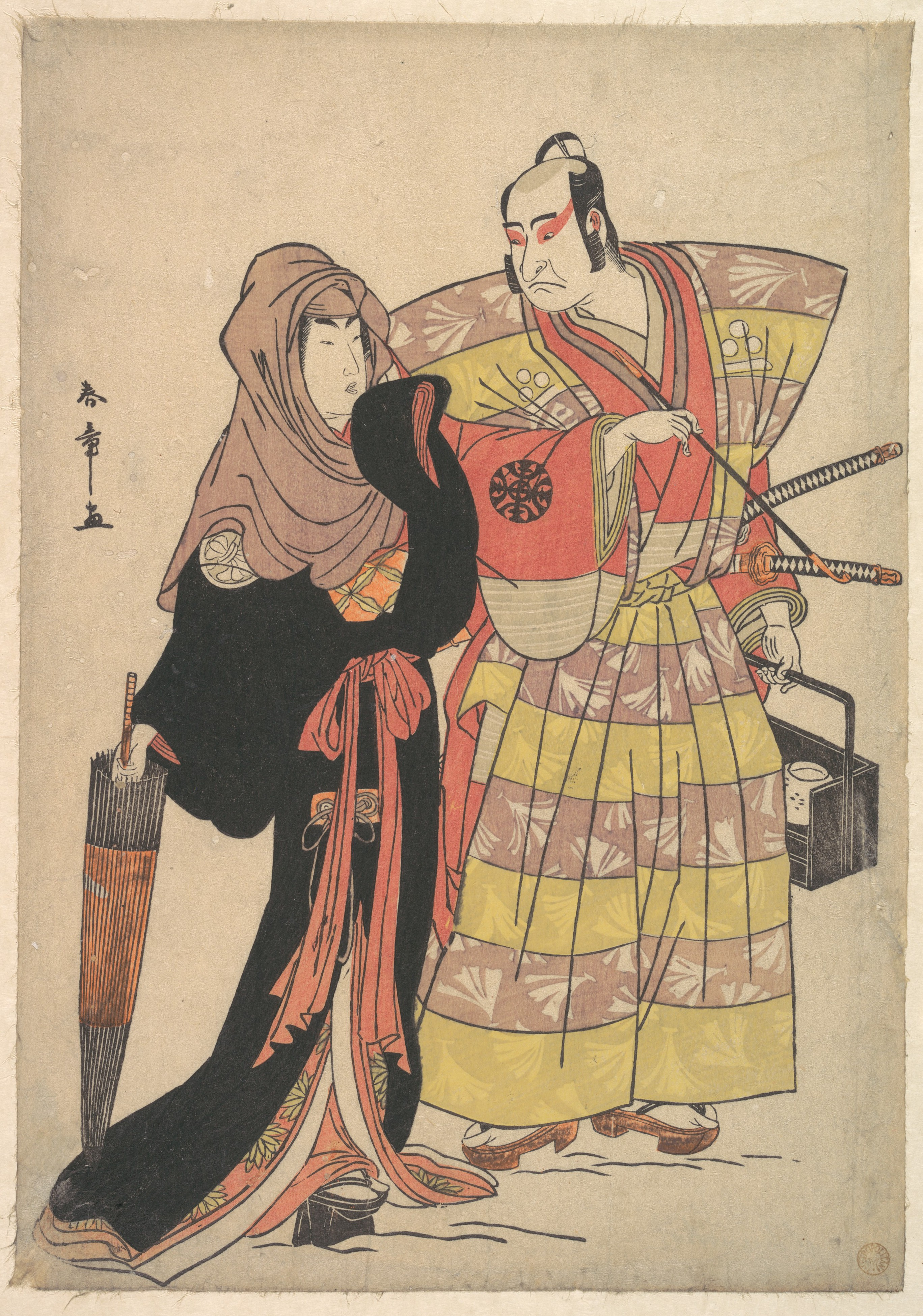 Scene from a Drama c1778 by Shunsho